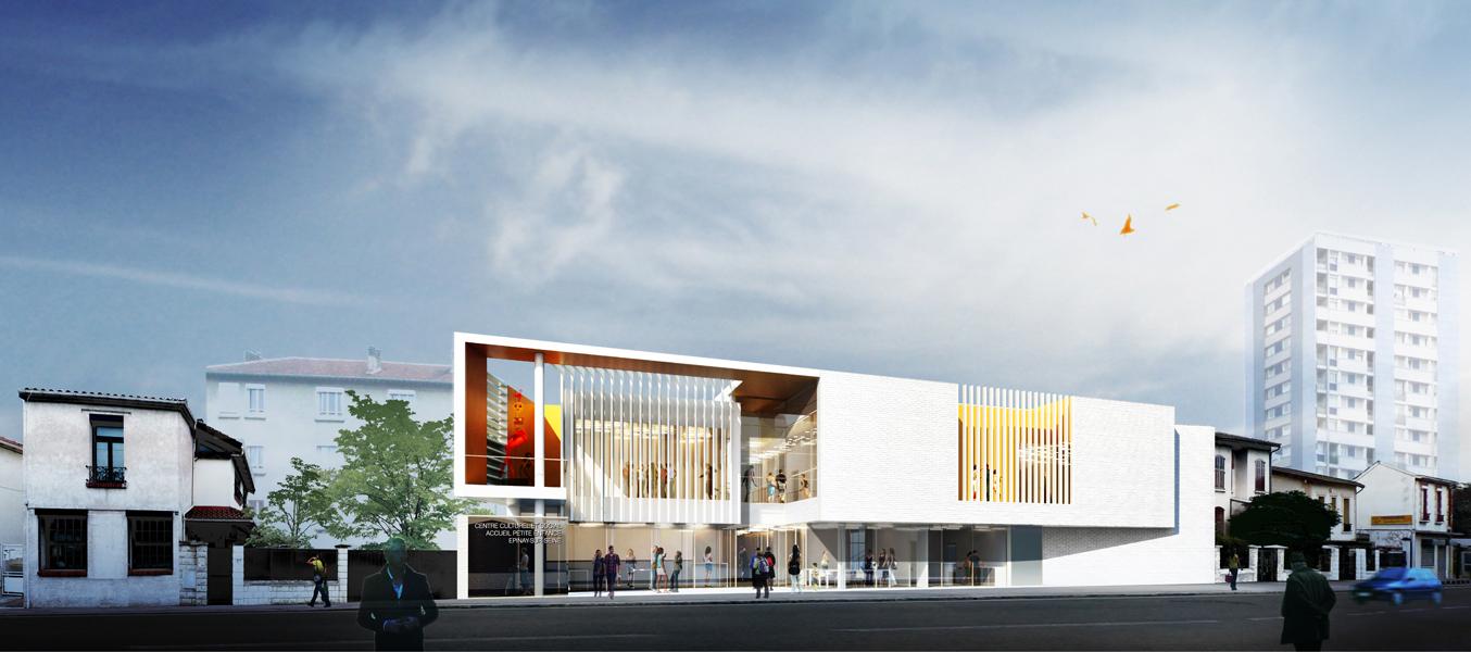 Centre socioculturel et cr che atelier bruno huerre for Assistant d architecte