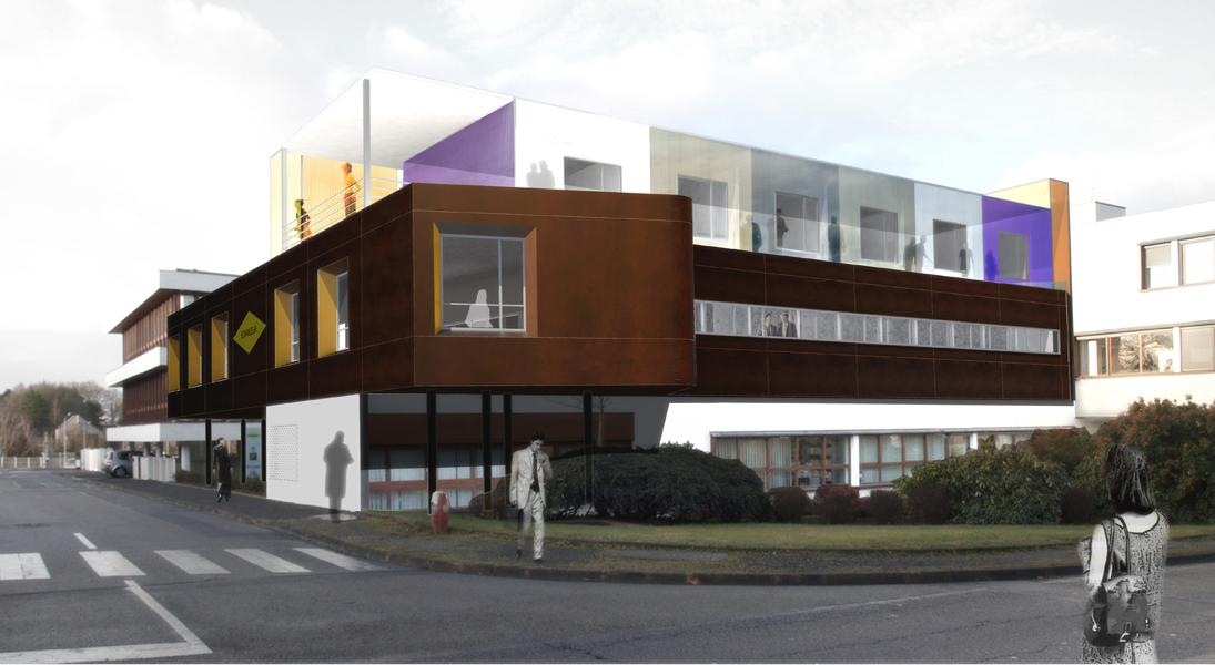 extension de bureaux atelier bruno huerre architectes. Black Bedroom Furniture Sets. Home Design Ideas
